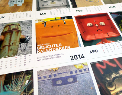 Philip sees faces postcard calendar 2014