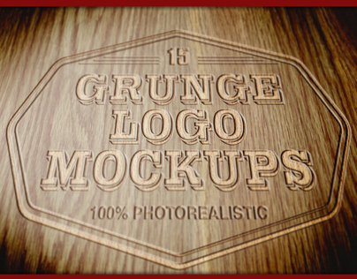 15 Photorealistic Logo Mockups (Wood Version)
