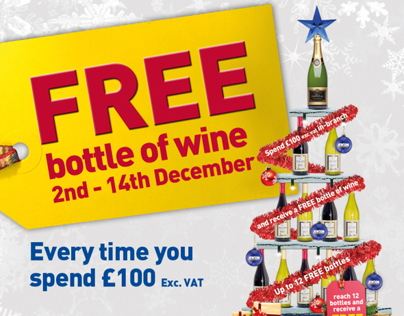 Jewson - December Wine Promotion