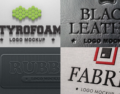 10 Photorealistic Logo Mock-up Set 3