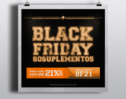 Black Friday SóSuplementos Poster