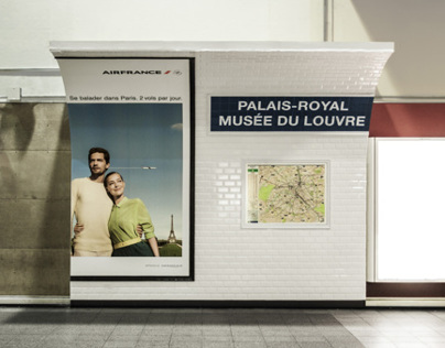 Air France - Paris Subway in Montreals Subway