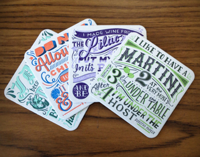 Bitch Media Letterpress Coasters