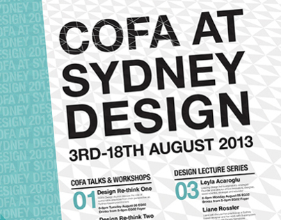 COFA at Sydney Design