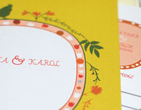 wedding cards  ( Rustic)