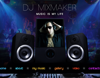 DJ Mix Maker - Music Is My Life HTML5 Template