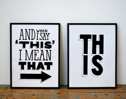 I Mean That - Screenprint