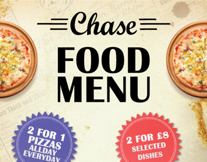 Chase Bar Sunderland - Food Menu
