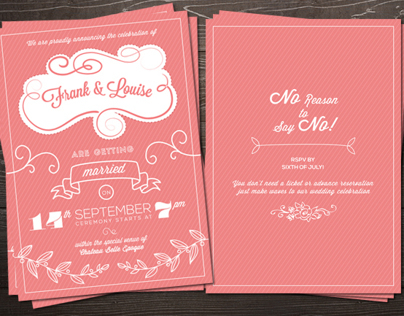 Retro Love Wedding Invite X