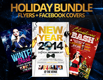 Holiday Bundle | Flyers + FB Covers