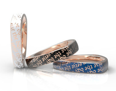 Geometric Shaped Rings -Designed For inori.com