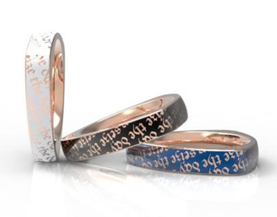 Geometric Shaped Rings -Designed For inori.com