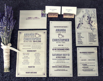 Amanda & Chris Wedding Invitations