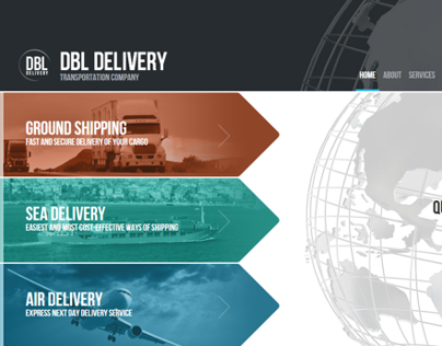 DBL Delivery Transportation Company HTML5 Template
