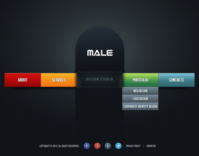 Male Web Design Studio HTML5 Template 300111656