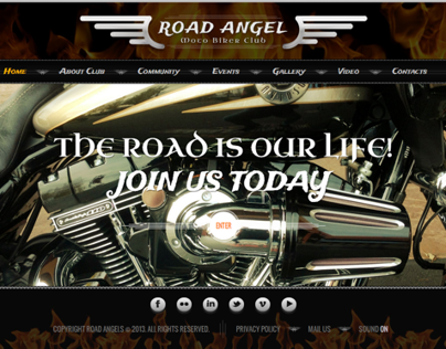 Road Angel Biker Club HTML5 Template