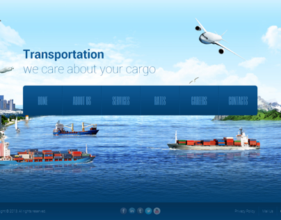 Transportation Parallax HTML5 Template 300111756