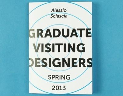 Graduate Visiting Designers process book