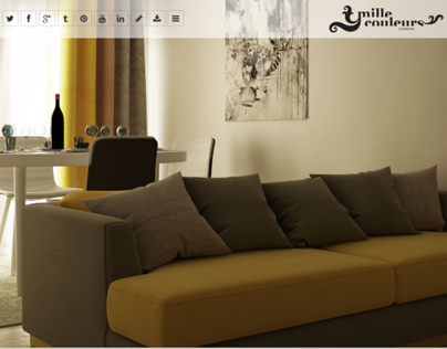 Mille Couleurs - e-Commerce website
