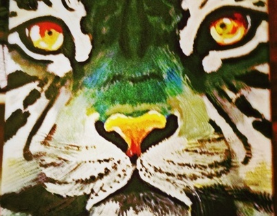Jungle Cat Painting