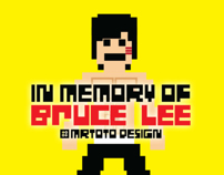 In Memory of Bruce Lee Pixel Project Wall Art Print