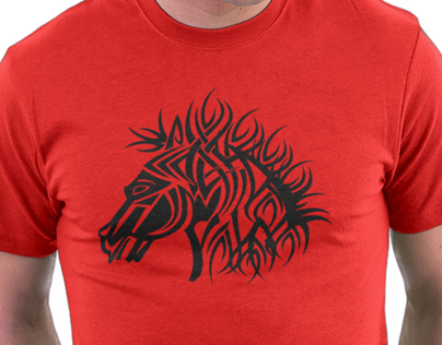 Tribal Horse Cool Vector T-Shirt and Metal Poster