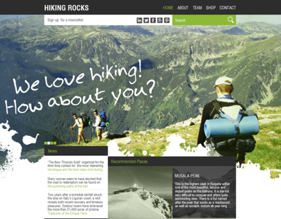 Hiking Rocks website