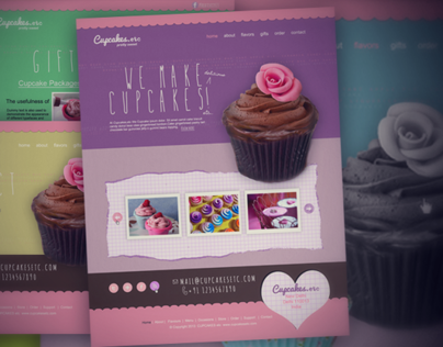 Cupcake Theme Website Design