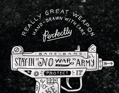 Hand-drawn guns