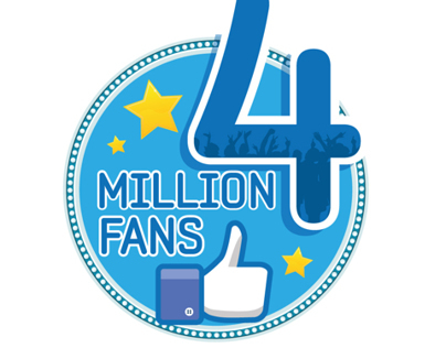 Samsung Egypt 4 million fans logo, fan page