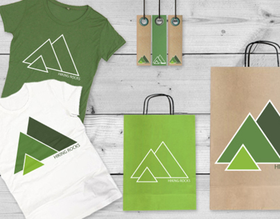 Hiking Rocks brand identity