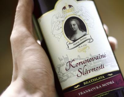 Korunovačné Víno | Wine Bottle Label