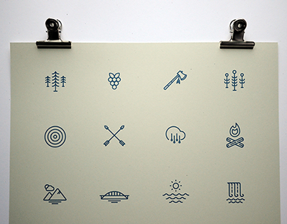 New York Lake Pictograms