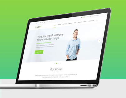JoeBy – One Page Business PSD Template