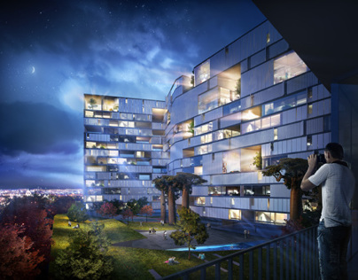 3D Visualization | 3D Render - Hotel Nature