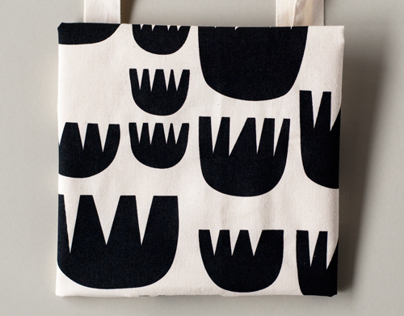 graphic flowers, tote bag