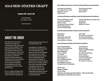 43rd Mid-States Craft Catalog