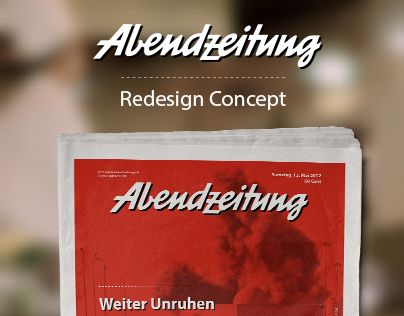 Abendzeitung Newspaper Redesign Concept