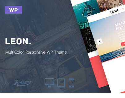 Leon. - MultiColor Responsive HTML5 WP Theme