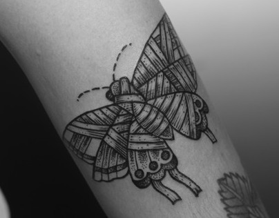 Butterfly Mummy Tattoo