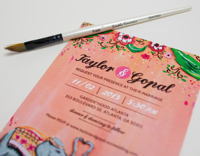 Taylor+Gopal Wedding Stationery