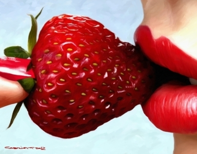 Strawberry and Lips