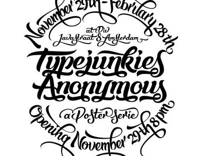 Typejunkies Anonymous - A Poster Series