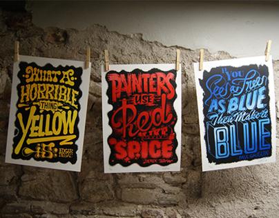 COLOR QUOTES / Silkscreen Prints