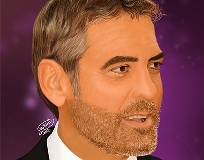 George Clooney   Digital Painting