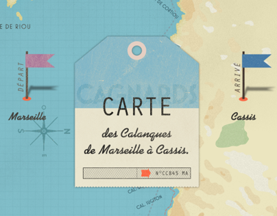 Carte des Calanques