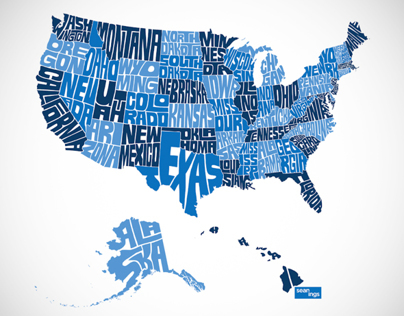 USA Typographic States