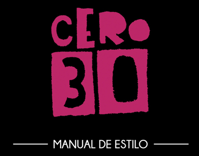 Manual de Estilo - CERO30