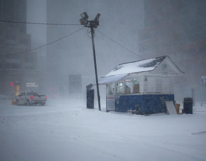 Montreal under the snow storm