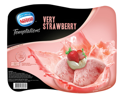 Nestle Temptations packaging design